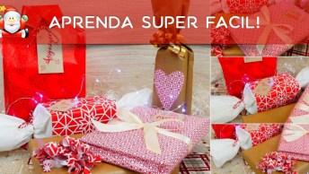 Vídeo Ensinando Vário Tipos De Embrulhos Para O Natal, Confira!