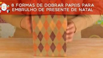 Vídeo Mostrando 8 Formas De Dobrar Papéis Para Embrulho De Presente De Natal!