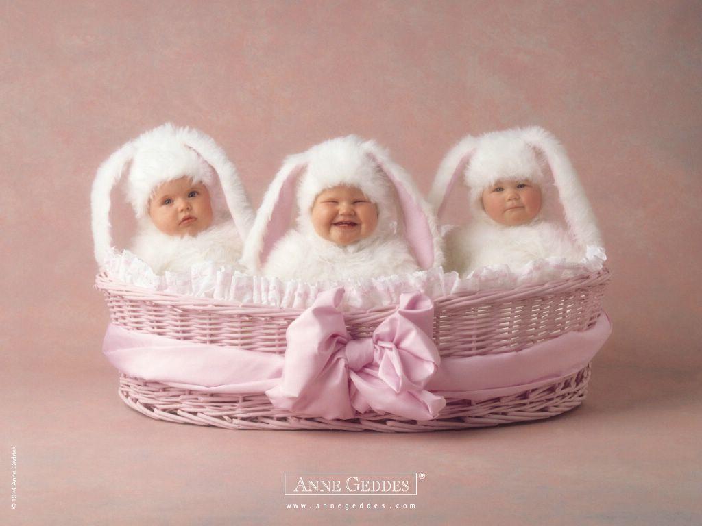 Anne Geddes - bébés lapins