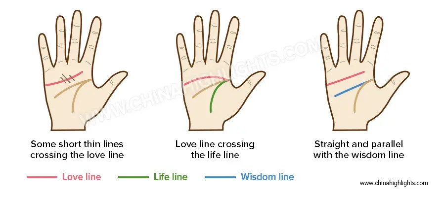 Love Line in the Palm Readin