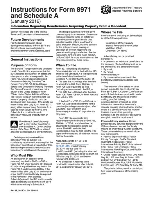 Estate Tax 706 Instructions