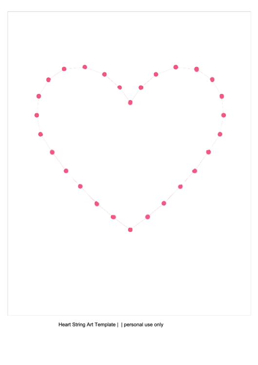 Big heart string art template printable pdf download, free coloring pages