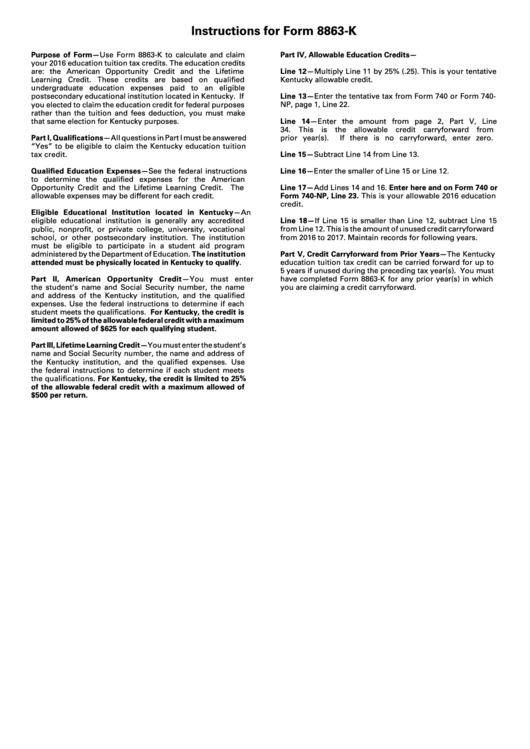 2014 Form 8863 Printable