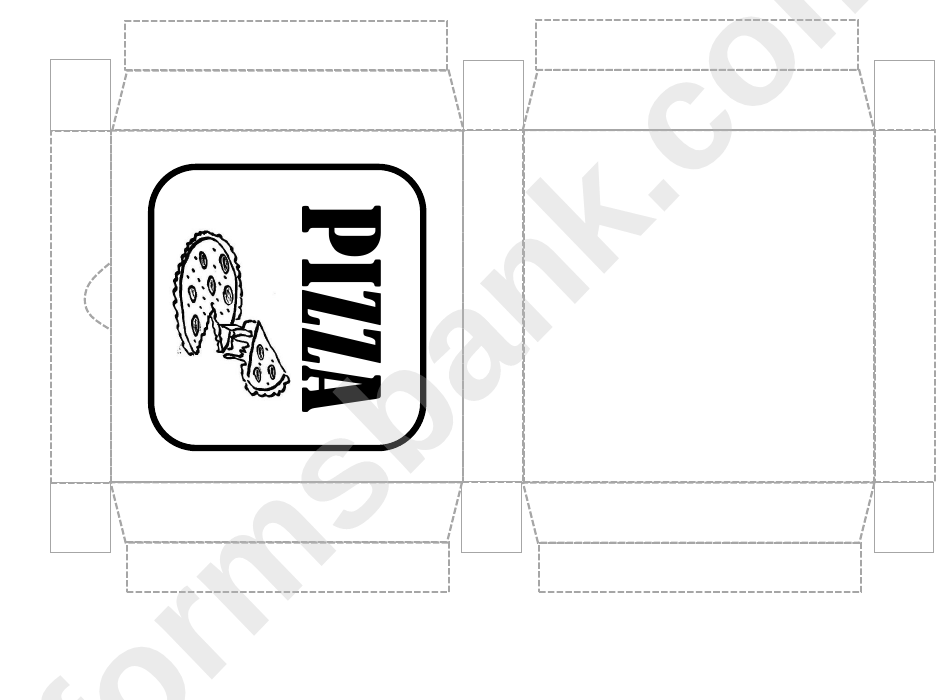 Pizza Box Template Printable Pdf Download
