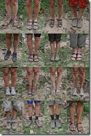 Sixteen Dirty Pairs of Feet