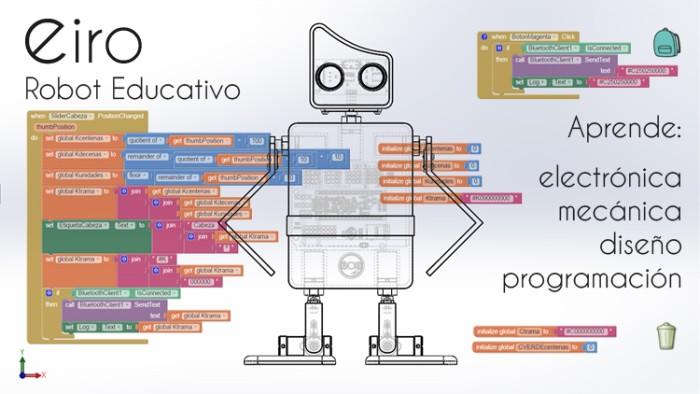 imagen-eiro-10 Eiro, robot educativo de código abierto compatible con Arduino