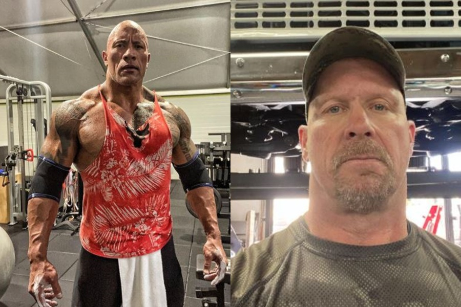 The Rock and Stone Cold Steve Austin