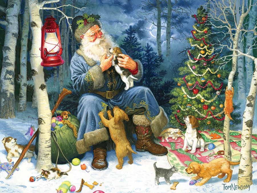 Puzzle Old World Santa Cobble Hill 54588 400 Pieces Jigsaw