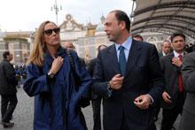 Stefania Prestigiacomo e Angelino Alfano