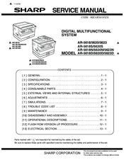 Sharp AR5623N Manuals