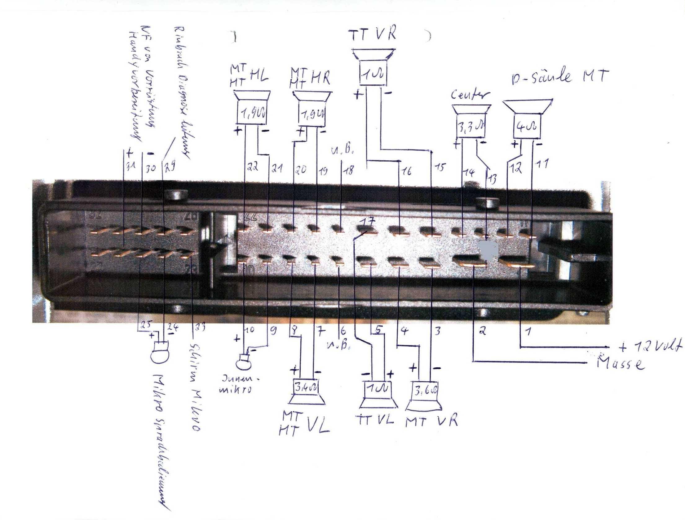 Steckerbelegung Am Bose Amp1 Subwoofer Einbau Bose