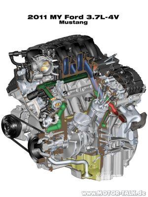 Fordmustang201537v6a : Ford Mustang 2015 Motoren