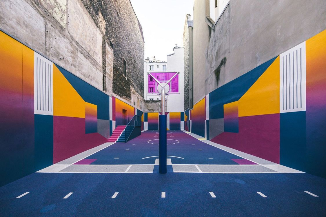 Spots to Visit in Paris, France: Nike and Pigalle realized the most colorful playground in the world