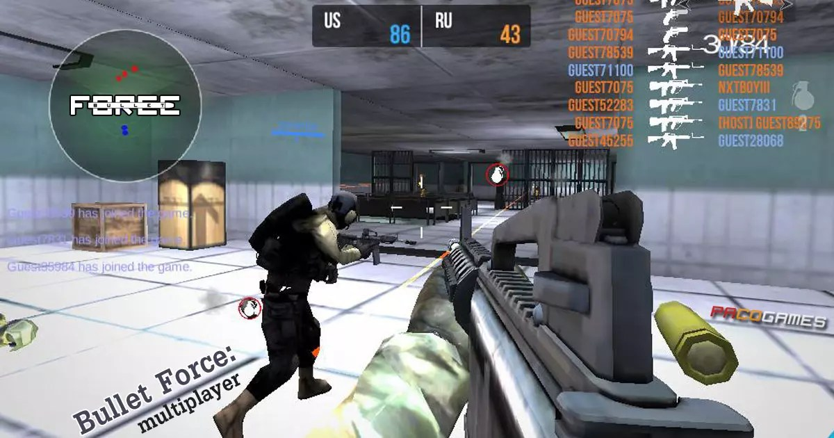 Bullet Force Multiplayer   Play it for Free at PacoGames com