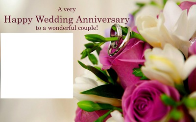 Montase Foto Happy Wedding Anniversary Pixiz