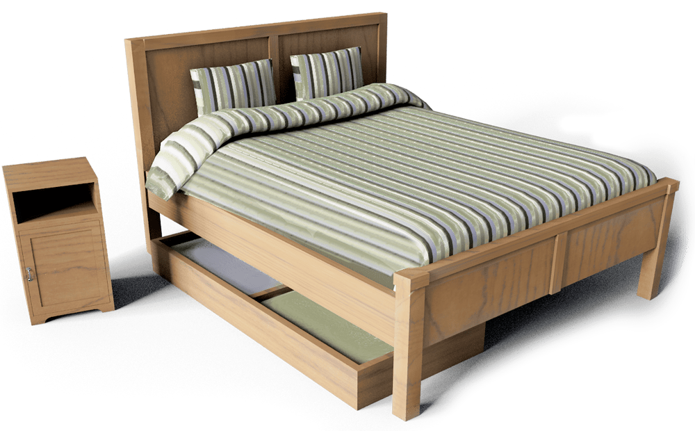 CAD And BIM Object Aspelund Double Bed IKEA