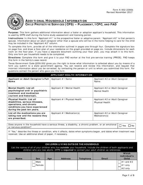 Form K-902-2286B Download Fillable PDF or Fill Online ...