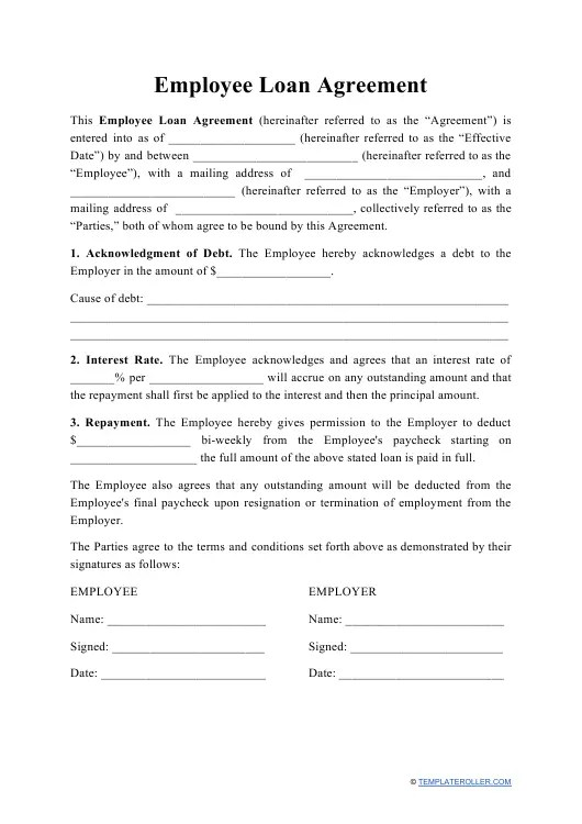 Figuring out which loans are best, however, isn't always easy. Free Loan Agreement Templates Create Pdf Download Print Templateroller