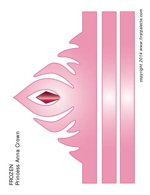 Frozen Princess Anna Paper Crown Template Pink Download Printable Pdf Templateroller