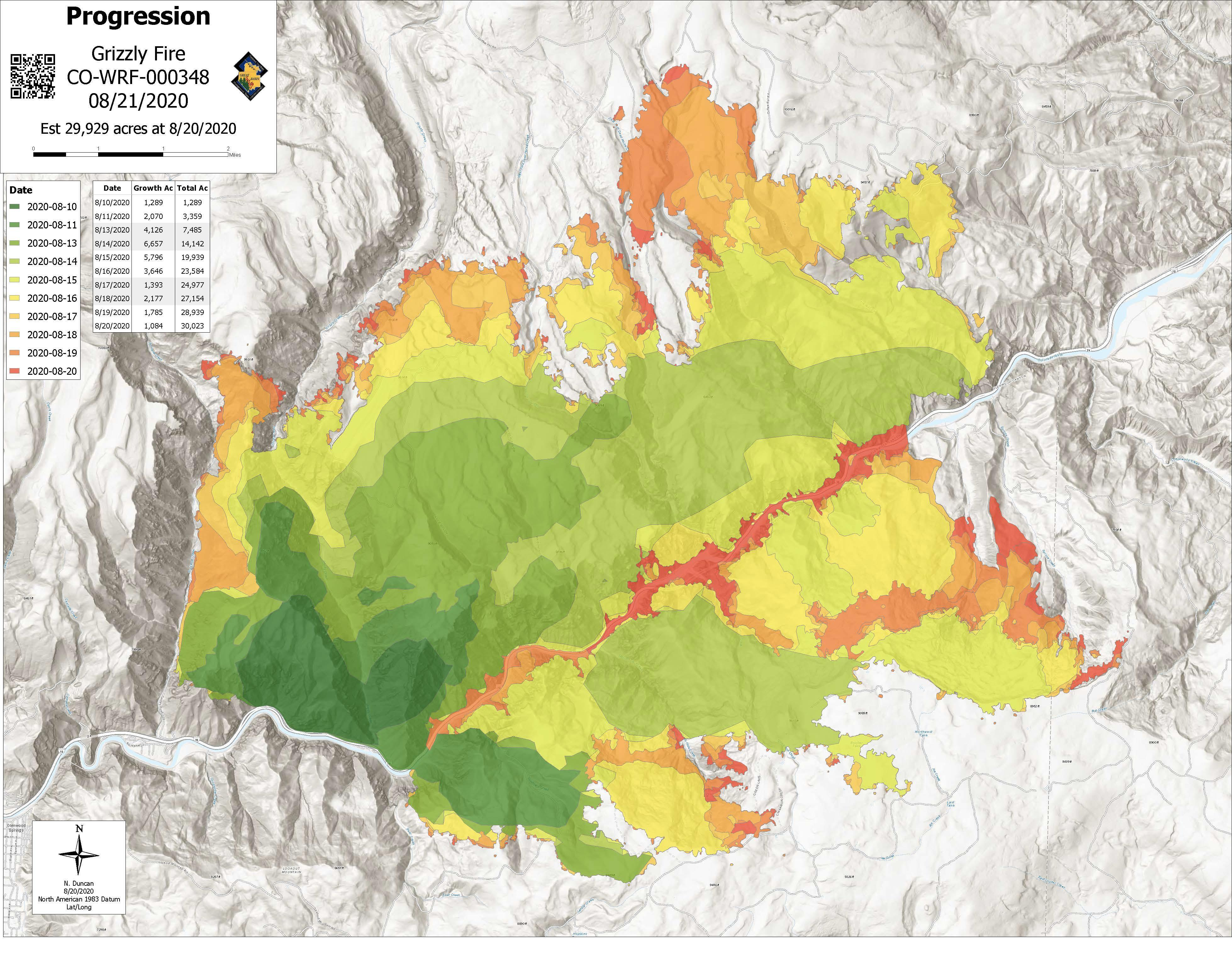 Sanborn map company, oct 1889; Grizzly Creek Fire Progression Map 8 21 20 Jpeg Grizzly Creek Fire Wildfire And Smoke Map Thespectrum Com