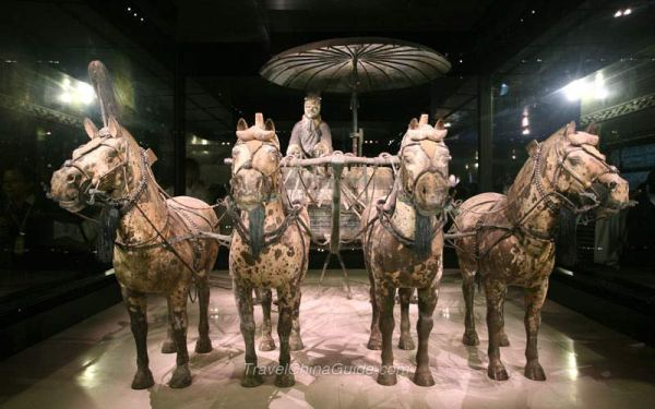 Xian Terracotta Army Pictures Bronze Chariot