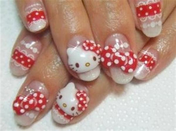 28 Images About O Kitty Nails On We Heart It See More And Nail Art