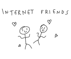 Image result for internet friends