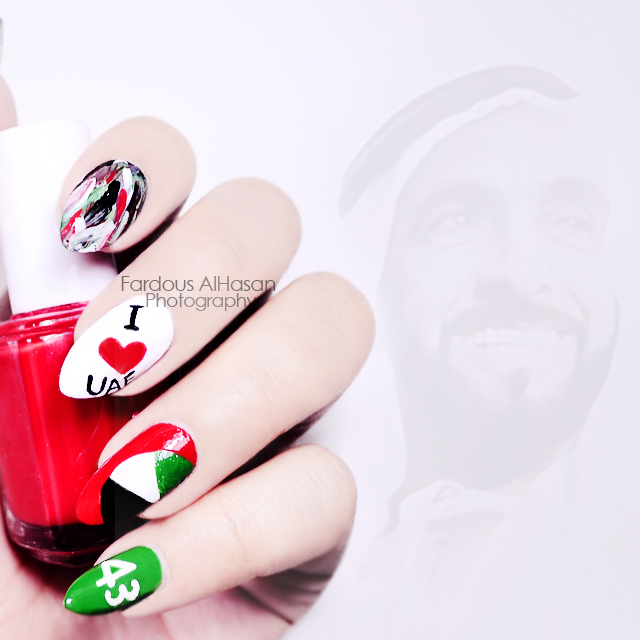 Uae Flag Nail Art By Fardous Alhasan For More Amazing Follow On Insram
