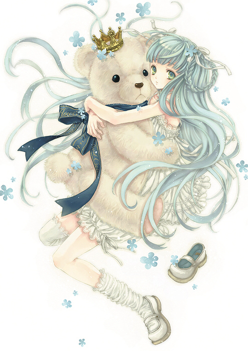 A sense of panic takes over kaoru when she receives a ransom. Blue Haired Anime Girl With Teddy Bear On We Heart It