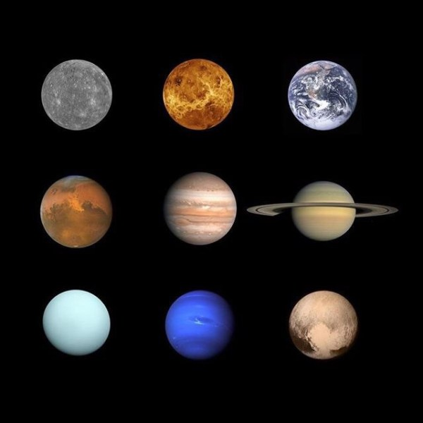The Solar System, yes, Pluto is a real planet! @nasa