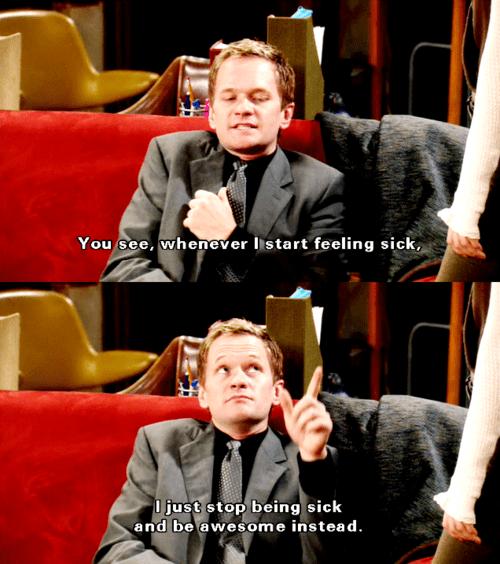 Barney, HIMYM, Sick
