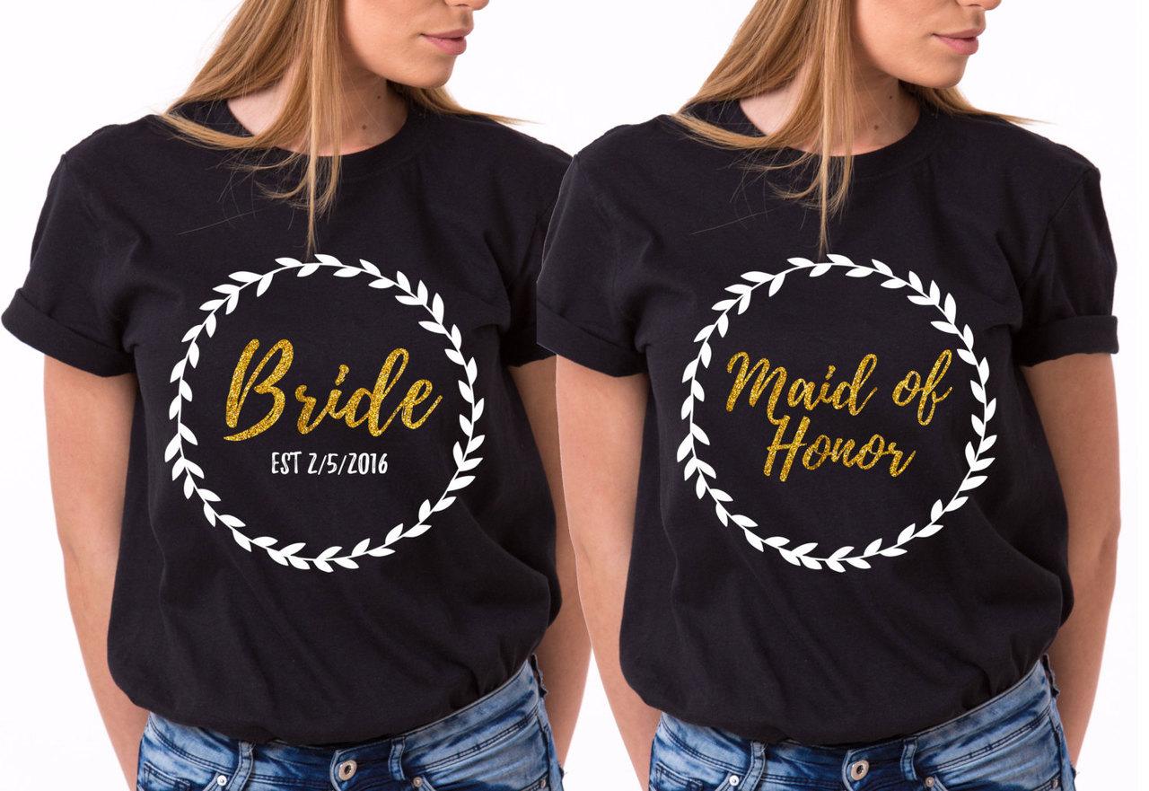 Bridesmaid Shirts Bride Shirt Bridesmaid T-shirts By