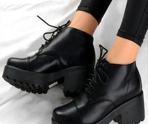 boots, ankle boots, and black image