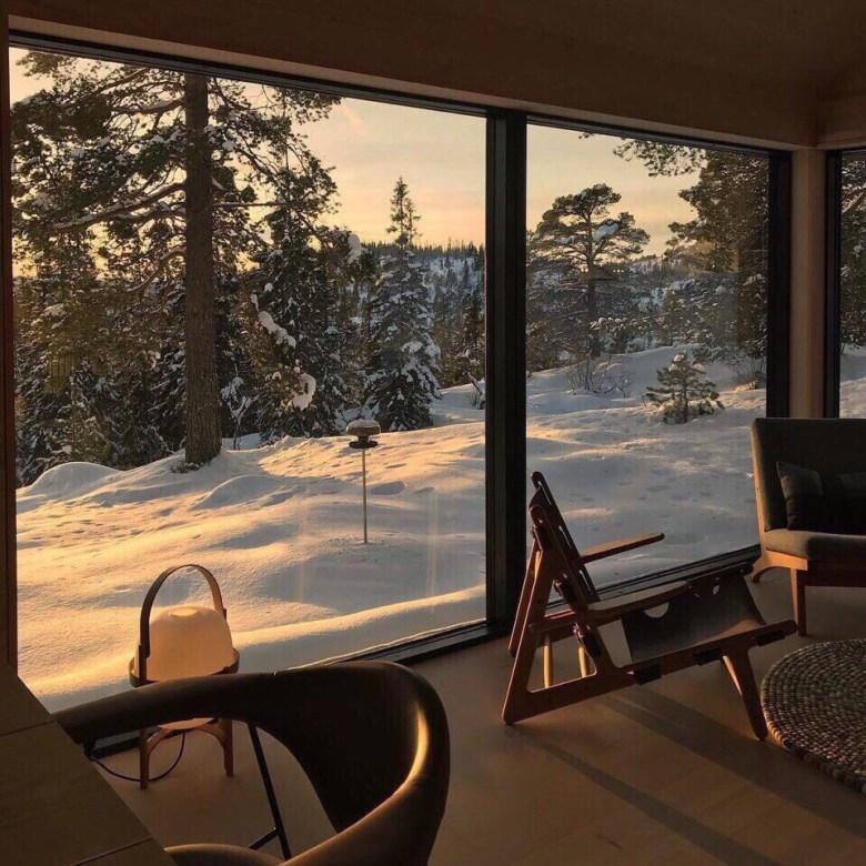snow, winter, and home -kuva