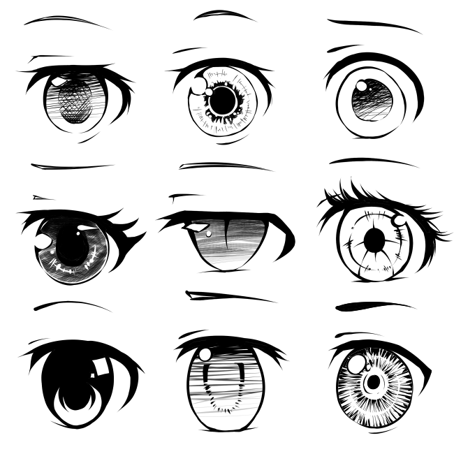 Group of: anime eyes~! | We Heart It