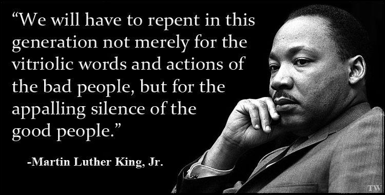 Image result for martin luther king quote - we will have to repent this generation
