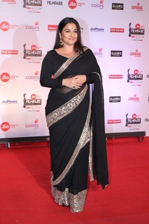 Vidya Balan at 63rd Filmfare Awards 2018