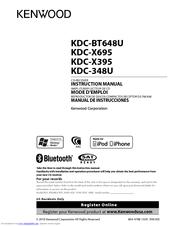 Kenwood KDCX395 Manuals