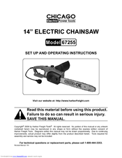 Chicago Electric 67255 Set Up And Operating Instructions Manual Pdf