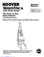 Hoover Steamvac With Clean Surge F5905 900 Owner S Manual