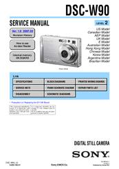 Sony DSCW90  Cybershot 81MP Digital Camera Manuals