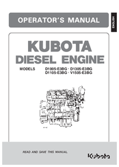 Kubota V1505E3BG Manuals