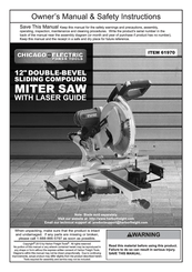Chicago Electric 61970 Owner S Manual Safety Instructions