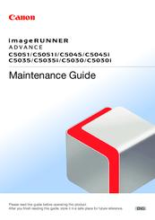 Canon IMAGERUNNER ADVANCE C5045 Manuals