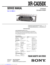 Sony XRCA350X Marketing s & diagrams Manuals