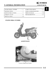 Kymco Agility RS 50 Manuals