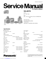 Panasonic SA–AK78 Manuals