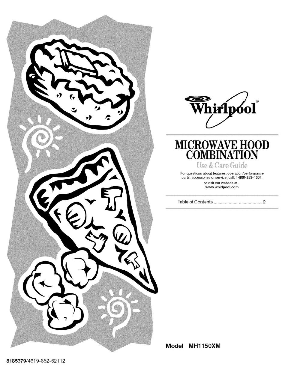 microwave oven whirlpool mh1150xmq3 use