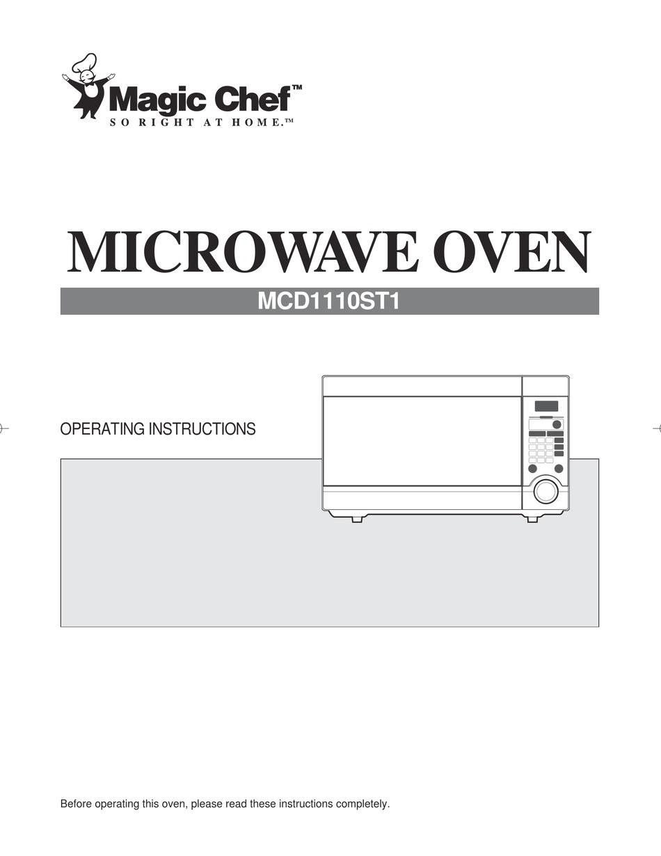 magic chef mcd1110st1 operating