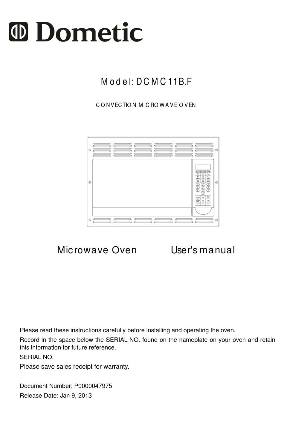 dometic dcmc11b f user manual pdf